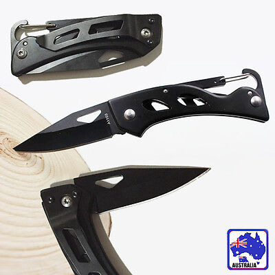 Black Foldable Pocket Knife Camping Hiking Fishing Hunting Blade OKNIF9919