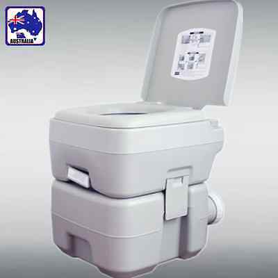 20L Portable Flush Toilet Loo w/ Water Tank Vehicle Outdoor Camping VHTOI3520
