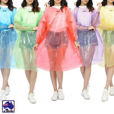 2pcs Thick Disposable Rain Coat Raincoat Poncho Camping Hiking Emergency ORACO62