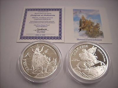 The Norse God Coin Series Freya - Valkyrie 1 oz .999 Silver Proof Round USA Coin