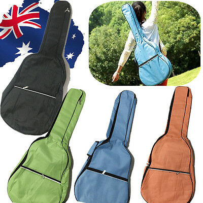 "4Colors Guitar Canvas Case 39"" Gig Bag Padded Straps Soft Carry Black SMUBA 47"