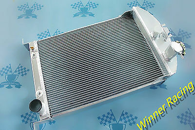 "T=2¼"" UP TO 700HP Aluminum Radiator for Ford Car W/Chevy 350 V8 AUTO 1933 -1934"