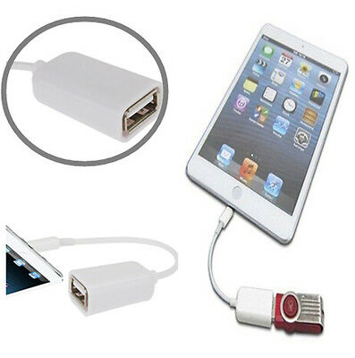 Fast Speed 8 Pin OTG Host to USB 2.0 Female Adapter Cable for Apple iPad 4 Mini