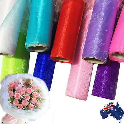 4.5m Wedding Flower Gift Packing Wrapping Tulle Roll Decor Ribbion GBRIB 71