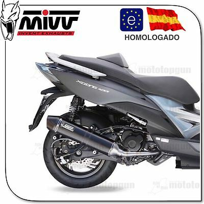 Escape Completo Mivv Stronger St. Black C Cup Kymco Xciting 400 2015 15