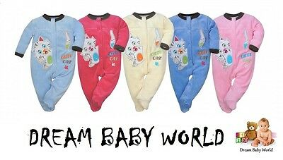 NEW Baby Boys & Girls Sleepsuits / Babygrows size 0 - 12 months HIGHEST QUALITY