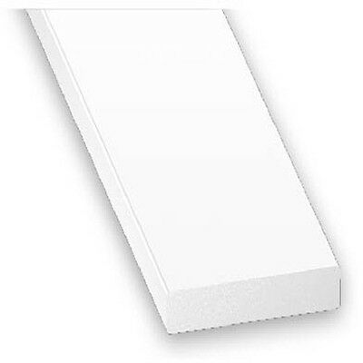 PVC Plastic Rigid Flat Bar Edging White - Various Sizes
