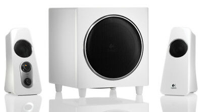 Logitech Z523 2.1 Speaker System for PC, iPhone, CD, DVD, or MP3 player -  White