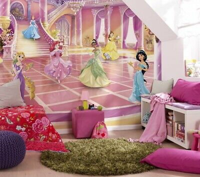 Childrens Room Wall mural photo wallpaper Disney Princess Pink Room decor