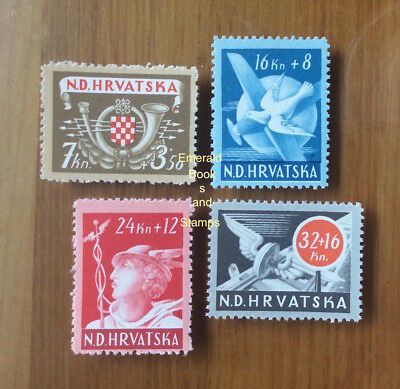 EBS Croatia Hrvatska NDH 1944 Post and Rail Employees set Michel No 150-3 MNH**