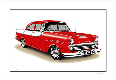 60'  Fb 138  Holden Sedan    Limited Edition Car Print Automotive Artwork