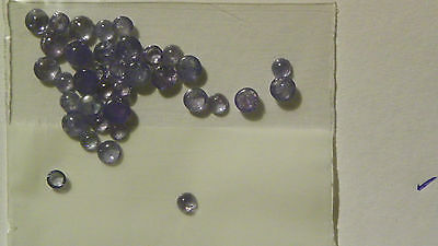 Tanzanite 8.180 carats 36 pieces 3 to 4 MM. Round Cabs Cabochons