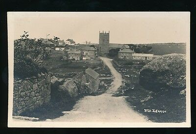 Cornwall ZENNOR Church General view c1920/30s? RP PPC