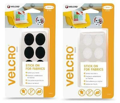 VELCRO® Brand Stick On For Fabrics Ovals 24mm x 8 Sets