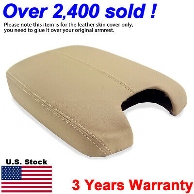 Leather Armrest Center Console Lid Cover for Honda Accord 2008-2012 Beige Tan