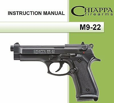 Chiappa M9-22 Pistol Owners Instruction and Maintenance Manual M9 22