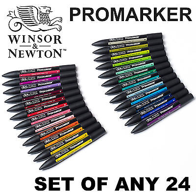 Winsor & Newton ProMarker Twin Tip Graphic Art Marker Pen | SET OF ANY 24