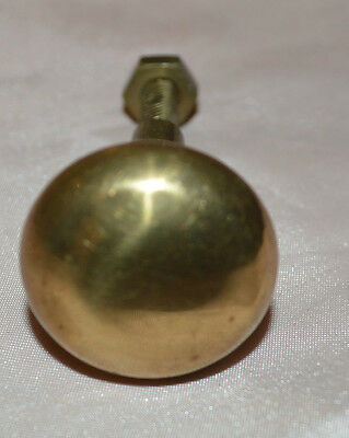 Vintage Solid Brass Knob Or Drawer Pull