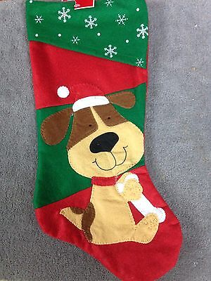 "Dog puppy Stocking 18""  (A-31)"