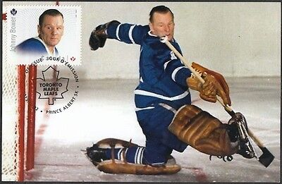 CANADA # 2869.1 - JOHNNY BOWER HOCKEY STAMP on MAXIMUM (POST) CARD, ONLY 8 MADE