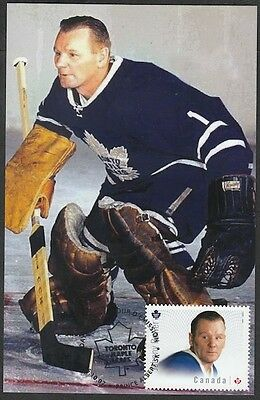 CANADA # 2869.3 - JOHNNY BOWER HOCKEY STAMP on MAXIMUM (POST) CARD, ONLY 8 MADE
