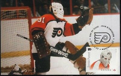 CANADA # 2871.1 -BERNIE PARENT HOCKEY STAMP on MAXIMUM (POST) CARD, ONLY 8 MADE