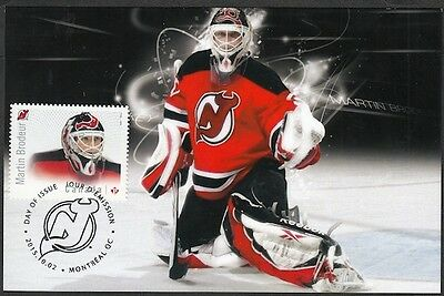 CANADA #2872.1 - MARTIN BRODEUR HOCKEY STAMP on MAXIMUM (POST) CARD, ONLY 8 MADE