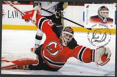 CANADA # 2872.3 MARTIN BRODEUR HOCKEY STAMP on MAXIMUM (POST) CARD, ONLY 8 MADE