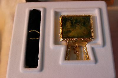 2002 ESTEE LAUDER Weekend Artist Painting Beautiful Perfume Solid Compact RARE