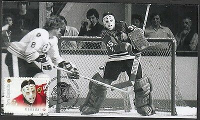 CANADA # 2868.4 - TONY ESPOSITO HOCKEY STAMP on FIRST DAY COVER ONLY 6 MADE