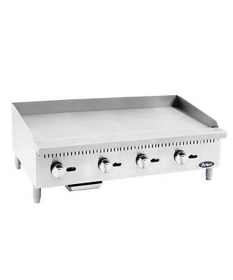 ATOSA HEAVY DUTY GRIDDLE, 48 INCHES, 4 BURNERS, Natural Gas - ATMG-48
