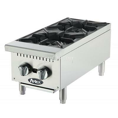 Atosa HD 12in Two Burner Hotplate Natural Gas - ATHP-12-2