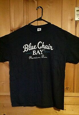 UPDATED!KENNY CHESNEY BLUE CHAIR BAY PREMIUM RUM BORN ON THE BEACH T-SHIRT Mens