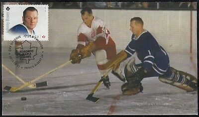 CANADA # 2869.6 - JOHNNY BOWER HOCKEY STAMP on FIRST DAY COVER, ONLY 6 MADE