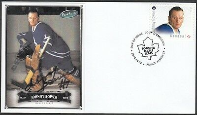 CANADA # 2869.8 - JOHNNY BOWER HOCKEY STAMP on FIRST DAY COVER