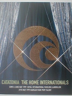 CATATONIA the home internationals 1999 event programme 20 pages incl IAN BROWN
