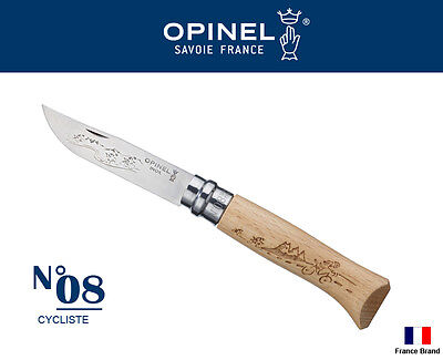 Opinel France No08 Tradition CYCLISTE Beech Wood Handle Folding Knife