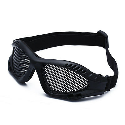 Tactical Military Airsoft Goggle Metal Mesh Shooting Eye Glasses Mask Protection