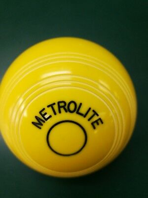Crown Green Bowling Jack Metrolite Yellow Practice Jack