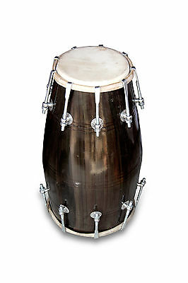 Handmade Bolt Tuned Indian Mango Wood Musical Dholak Bhajan Kirtan Use 0160