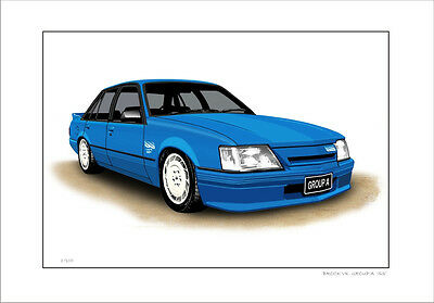 Brock Vk  Group A  Ss  Commodore   Limited Edition Car Print Automotive Artwork