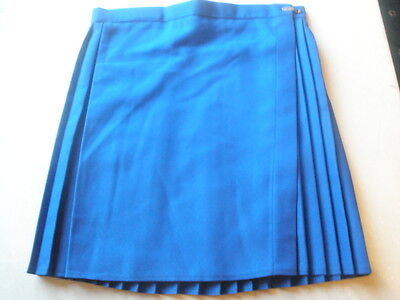 Royal Blue Pleated Gym Netball Skirt Size 24