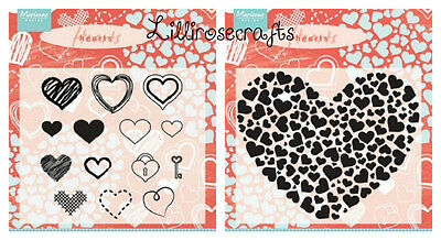 Marianne Design Clear Stamps - Heart Sets - Valentine's Day - Love - Cardmaking