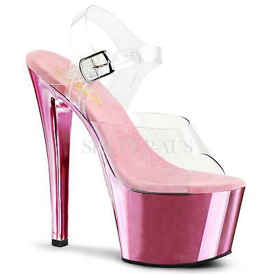 AU Stock Pleaser Shoes SKY-308 Pole Dancing Heels Pink Strippers Sexy