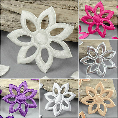 10 x Daisy Large Appliques daisies flowers Satin hairband sewing crafts 45mm