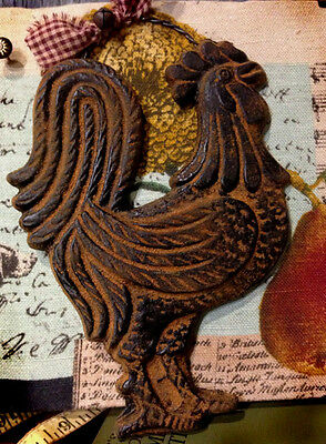 PRiMiTiVE Chicken Rooster Blackened Beeswax Ornament Cinnamon Scented Folk Art