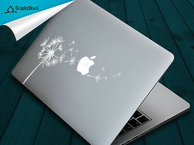 """Mac Decal Mabook Decals Laptop Stickers White Dandelion 11"""" 12"""" 13"""" 15"""" 17"""" inch"""