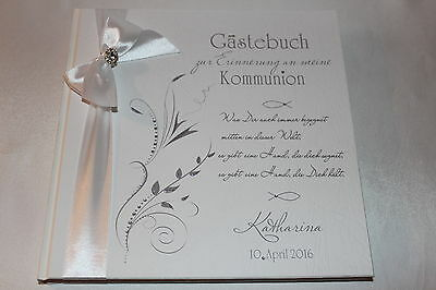 Hardcover Gästebuch Kommunion Konfirmation