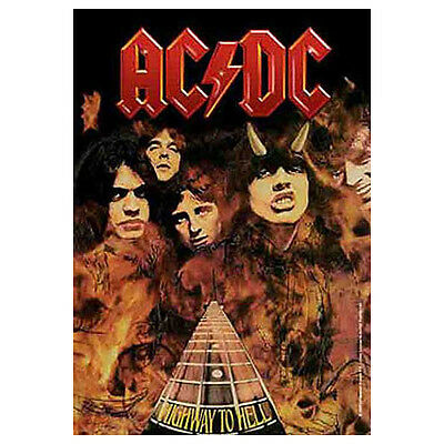 """AC/DC Highway To Hell Tapestry Cloth Poster Flag Wall Banner New 30"""" x 40"""""""