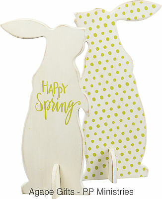 PBK Easter Decor Figurine  - Adorable Stand-Up Bunny Happy Spring #26493